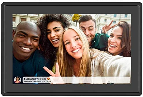 Feelcare 10.1 Inch 16GB Smart WiFi Digital Picture Frame, Send Photos or Small Videos from Anywhere, Touch Screen, 800x1280 IPS LCD Panel, Portrait and Landscape(Black)