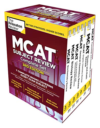 Princeton Review MCAT Subject Review Complete Box Set, 3rd Edition: 7 Complete Books + 3 Online Practice Tests (Graduate School Test Preparation)