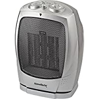 Homebasix PTC-903B Ceramic Oscillating Heater, 750/1500-watt