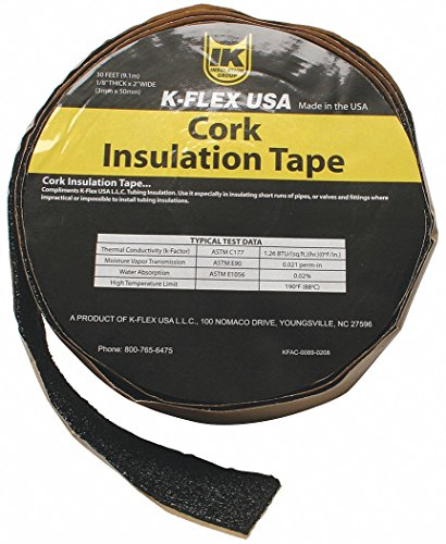 Pipe Insulation Tape, Black, 30 ft.