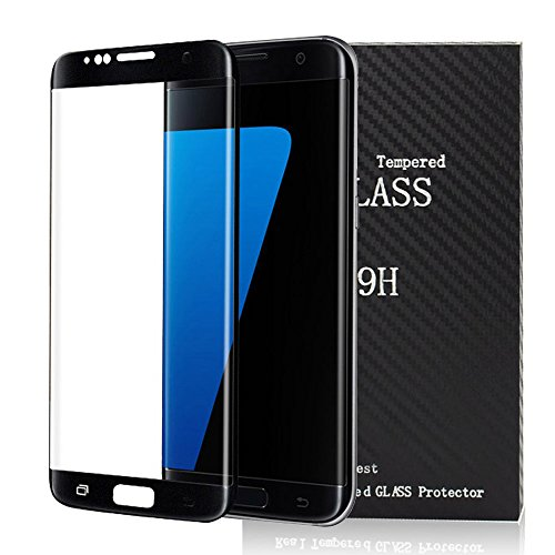 S7 Edge Screen Protector, SQDeal Galaxy S7 Edge 3D Tempered Glass Military Protective Shield Full Coverage HD Ultra Clear Film for Samsung Galaxy S7 Edge (Black)
