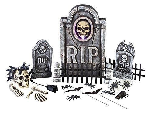 Kit Largemouth (Morbid Enterprises Boneyard 25 Pieces Graveyard Kit Halloween Decor, Multi, One Size)