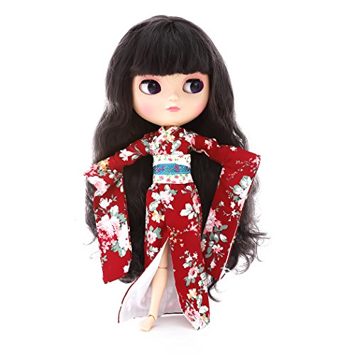 CUTEBEE The 12 Inch Nude Doll Is Similar To Blyth BJD Doll, Customized Dolls Can Be Changed Makeup and Dress by DIY, Ball Jointed Dolls Best Gifts and Hobby For Girls (Purple Black)