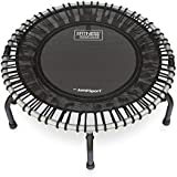 JumpSport 350F | Folding Fitness Trampoline, In-Home Rebounder | Easy Transport | No-Tip Arched Legs | Safe & Stable Bounce | Top Rated for Quality & Durability | 4 Music Workout Videos Incl.