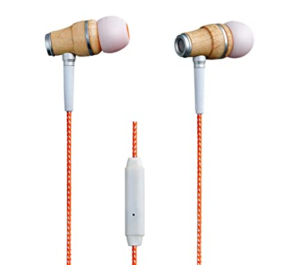 87aed458c76 Amazon.com: ESMOOTH Wood In-Ear Headphones Noise Cancelling ...
