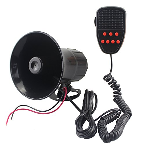 12V Loud Horn Car Auto Van Truck Motorcycle With 6 Sounds PA System - 2