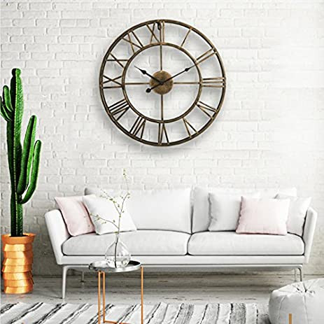 LightInTheBox 20quotH Country Style Metal Wall Clock Home Decor Clocks