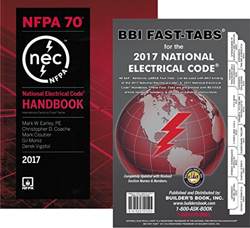 NFPA 70: National Electrical Code (NEC) Handbook and Fast Tabs, 2017 Edition, Set by NFPA-BB