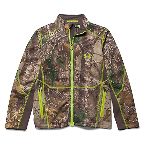 Under Armour Youth Scent Control Fleece Full Zip Top Realtree Ap Xtra / Velocity Large