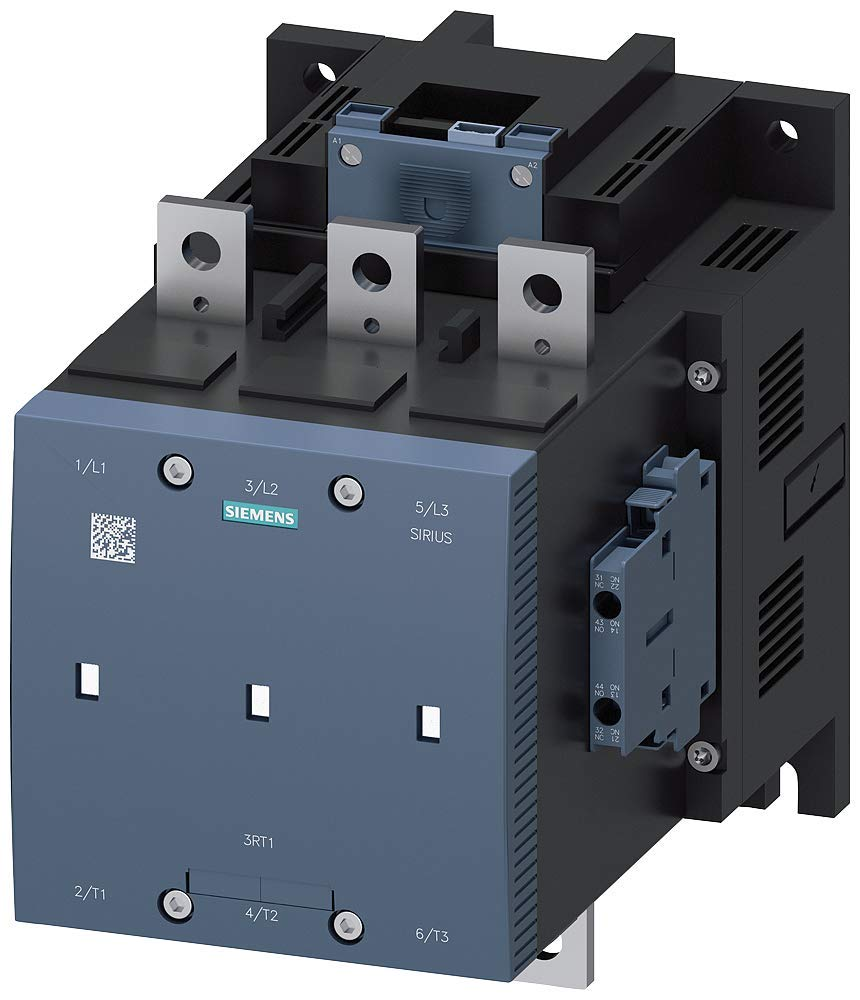 2 NC Lateral Auxiliary Contacts Siemens 3RT12 75-6NF36 Motor Contactor S12 Frame Size 400A AC-3 Maximum Inductive Current 2 NO 96-127VAC//VDC Rated Control Supply Voltage 3RT12756NF36