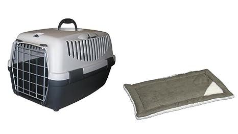 Caja de transporte Gulliver 1 L con cojín Perros Box Gatos caja de transporte perros y ...
