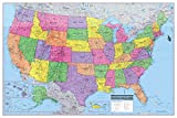 United States 3D Wall Map Poster 36x24 Rolled Laminated - 2018