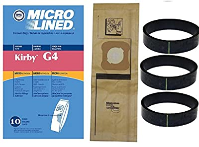 NEW 10 Kirby Micron Bags for G3 G4 G5 G6 G7 H2 Ultimate Vacuum + 3 Belts by DVC