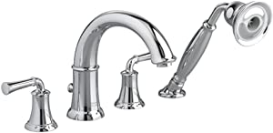 American Standard 7420.901.002 Portsmouth Deck-Mount Tub Filler with Personal Shower with Lever Handles, Polished Chrome