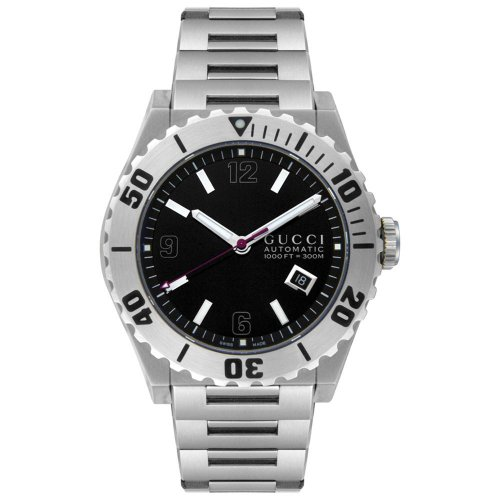 Gucci Men's Swiss Automatic Stainless Steel Sport Watch, Color:Silver-Toned (Model: YA115211)