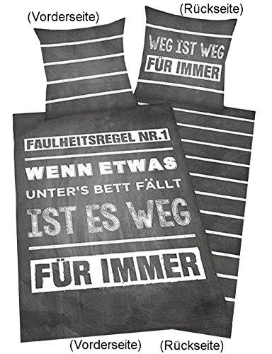 Herding 4459217050412 Bettwäsche, Baumwolle, grau, 200 x 135 x cm