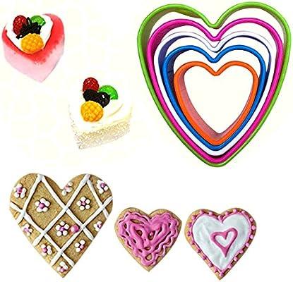 Espeedy Nuevos moldes para galletas de plástico Moldes para galletas Cortadores de verduras Galletas DIY Juego de herramientas de cocina para cocinar