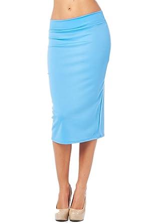 82 Days Women'S Ponte Roma Regular To Plus Below Knee Pencil Skirt ...