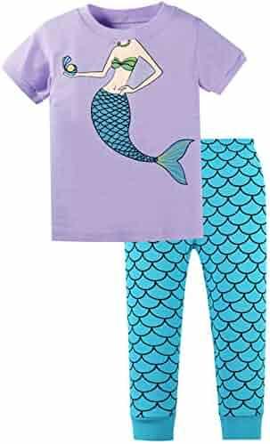 260234d2b4 AMGLISE Kids Little Boys Short Sleeve Pajamas 2 Piece Set 100% Cotton  Sleepwear PJS Pink