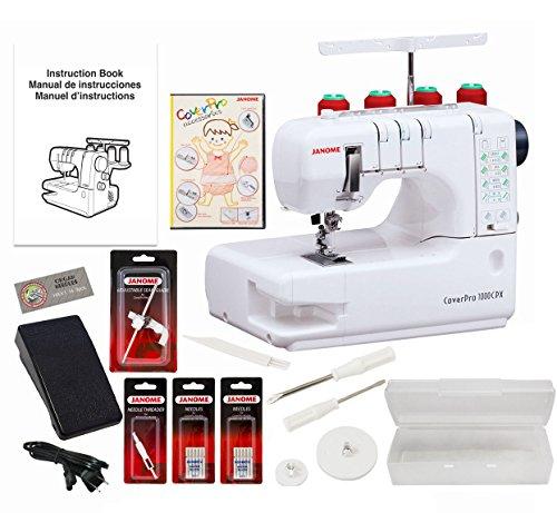 Janome Cover Pro 1000CPX Coverstitch Machine with Exclusive Bonus Bundle