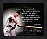 Ted Williams Boston Red Sox Pro Quotes Framed 8x10 Photo