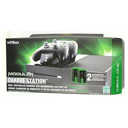 (COMMART Nyko Xbox One Modular Power Station 2 Rechargeable Batteries Controller Charger Ships from USA)