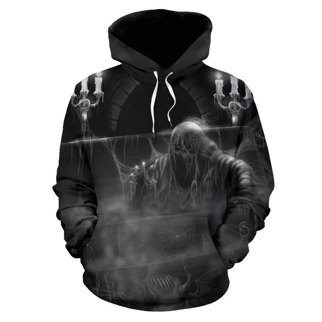 Amazon.com: SaoBiiu Presbyter Skull 3D Men Hoodies Sweatshirts Casual Jacket Hooded Pullover Gambling Skull: Clothing