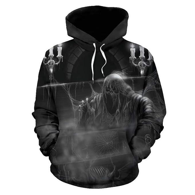 Amazon.com: SaoBiiu Presbyter Skull 3D Men Hoodies Sweatshirts Casual Jacket Hooded Pullover Gambling Skull: Clothing