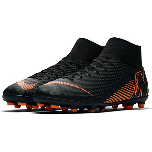 NIKE Men's Superfly 6 Club (MG) Multi-Ground Football Boot Black/Total Orange-White, 8.5 by NIKE