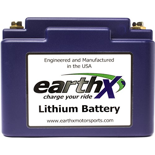 EarthX ETX12A Eco-Friendly Lithium Motorcycle Battery with Built-in Battery Management System (Motorcycle Battery Lithium)