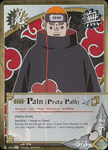 Naruto Card - Pain (Preta Path) 1004 - Path of Pain - Uncommon
