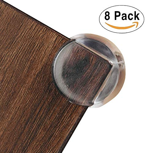 Corner Protectors 8-Pack, The Original Clear Corner Guards - for Child Proofing Coffee & Dining Tables - Transparent, Baby Proof Safety Bumpers! Protective Cushions for Sharp Furniture! (8 Pack)