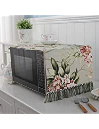 Microwave Oven Cover European Dust Cover Towel Cotton And Linen Oven Hood 35 100cm