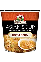 Dr. McDougall\'s Right Foods Asian Soup Hot and Spicy Clear Noodle Soup, 1.0 Ounce (Pack of 6)