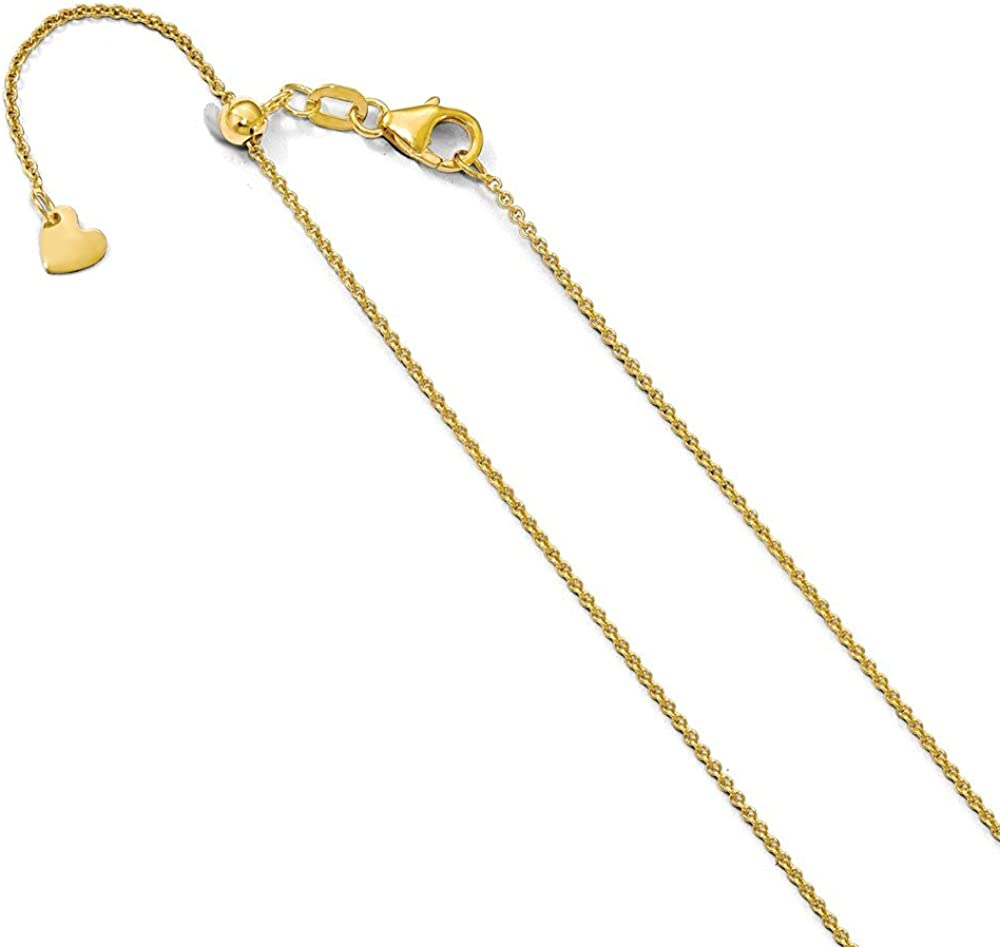 14K Yellow Gold Leopard Pendant on an Adjustable 14K Yellow Gold Chain Necklace