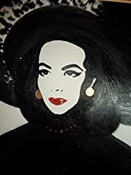 MARIA FELIX : ULTIMATE MEXICAN DIVA! :: Abstract POP Modern ART Style - Acrylic Original Painting on White Paper - SIZE:11\