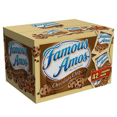 2 Cases Famous Amos Chocolate Chip Cookies (2 oz., 42 ct.) (Chocolate - Cookies Famous Amos Chocolate