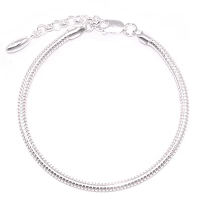 a74636ac8ce1 Adjustable Bracelet For Charms 100% Sterling silver bracelet 18 cm + 4 cm  Extension articulated