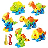 Dinosaur Toys Take Apart Toys With Tools (218 pieces) – Pack of 6 Dinosaurs – Construction Engineering STEM Learning Toy Building Play Set – Toy for Boys & Girls Age 3 – 12 years old