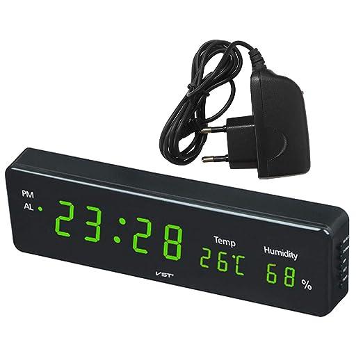 FLAMEER Reloj Despertador de Mesa Digital para Usado en Dormitorio ...