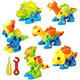 Dinosaur Toys Take Apart Toys With Tools - Pack of 6 Dinosaurs - Construction Engineering STEM Learning Toy Building Play Set - Toy for Boys & Girls Age 3 - 12 years old