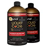 Qunol Liquid CoQ10 100mg, Superior Absorption Natural Supplement Form of Coenzyme Q10, Antioxidant for Heart Health, Orange Pineapple Flavored, 60 Servings, 20.3 oz Bottle, Pack of 2