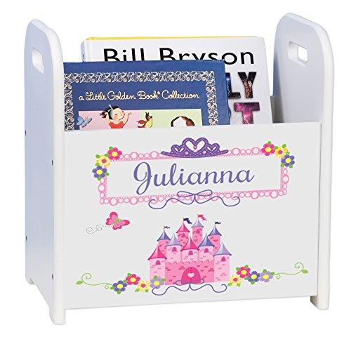 MyBambino Personalized Child's Book Storage Magazine Rack - Princess Castle