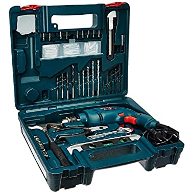 Bosch GSB 500W 10 RE Professional Tool Kit, MS & Plastic (Blue, Set of 100 Tools) 6