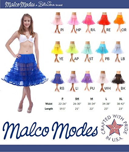 Womens Crinoline Petticoat Underskirt for 50s Poodle Skirt Costume or vintage dresses, by Malco Modes. Tulle tutu skirt, adult dance skirt. Plus size petticoat available Black