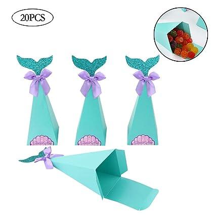 Amazon.com: 20 cajas de regalo con forma de sirena para ...