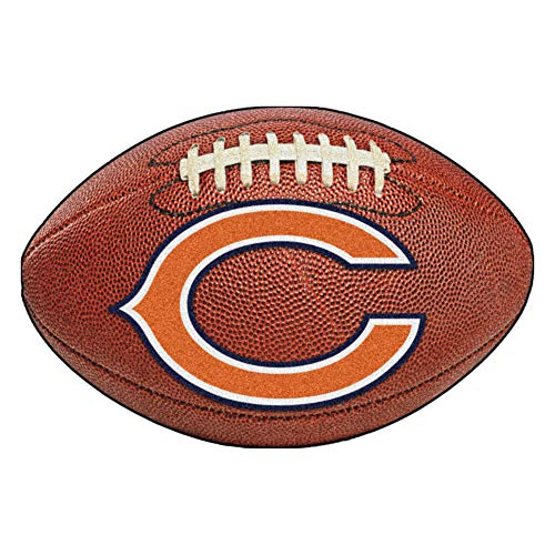 FANMATS NFL Chicago Bears Nylon Face Football Rug (Bears Rug)