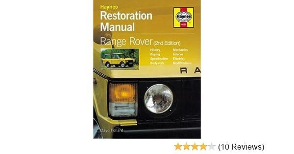 Restoration manual range rover restoration manuals dave pollard restoration manual range rover restoration manuals dave pollard 0699414001231 amazon books fandeluxe Images
