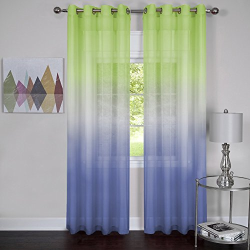 Achim Home Furnishings Rainbow Single Grommet Window Curtain Panel, 52
