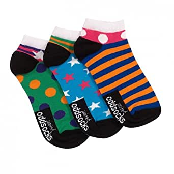Trainer Socks for Ladies : Set of 3 Liner Oddsocks For Ladies